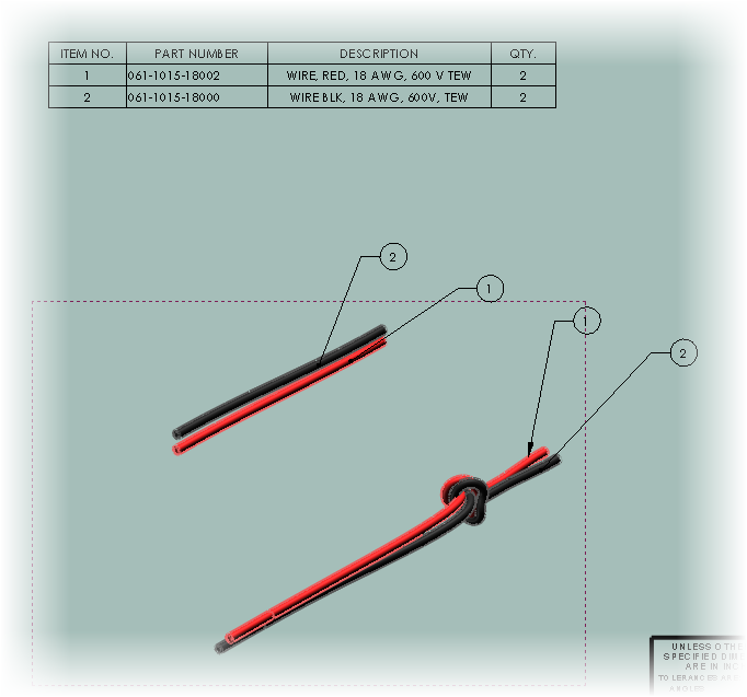 Drawing standards harness. Wire jrb mechanical design