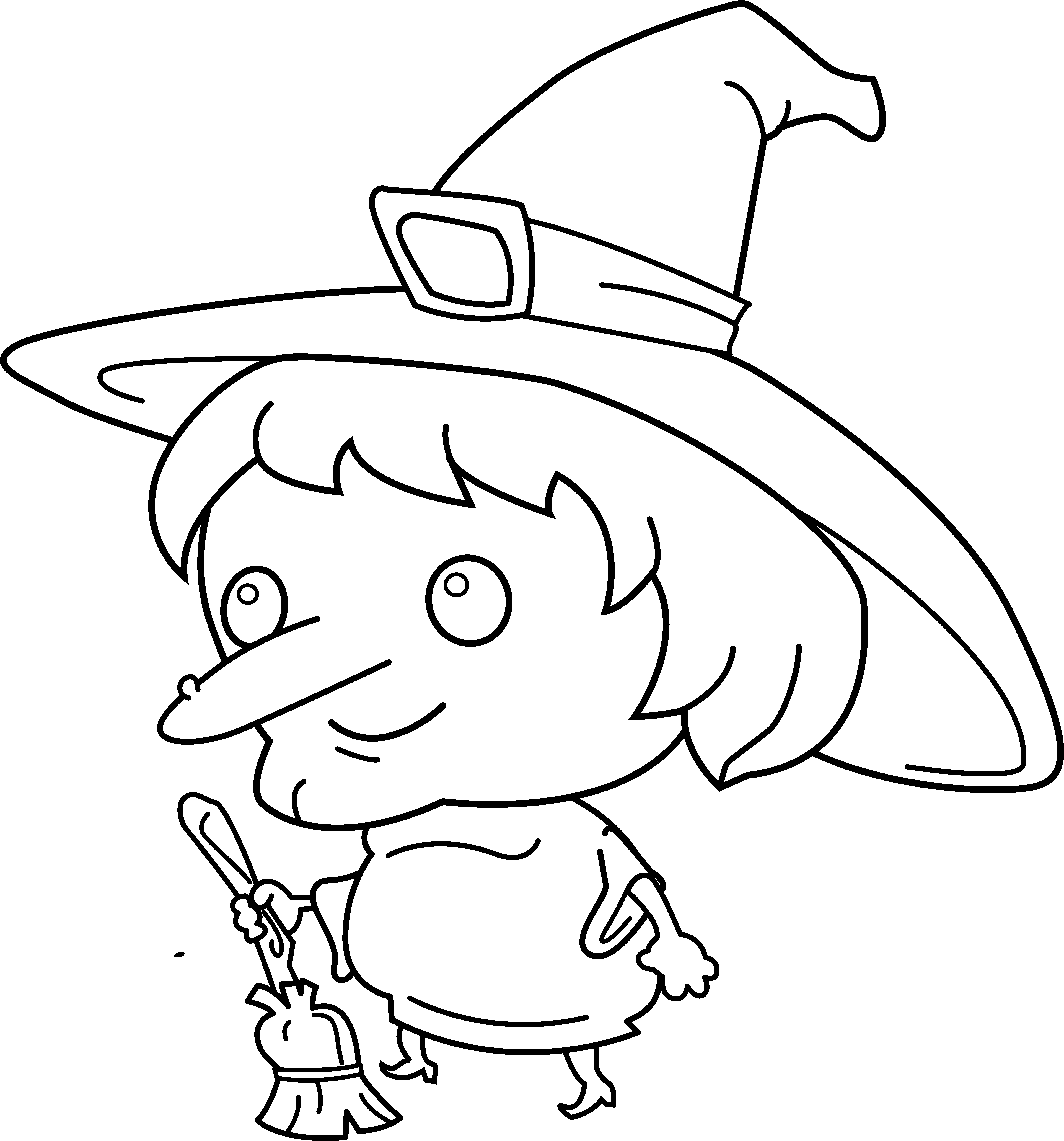 Drawing witch eye. Hat clip art coloring