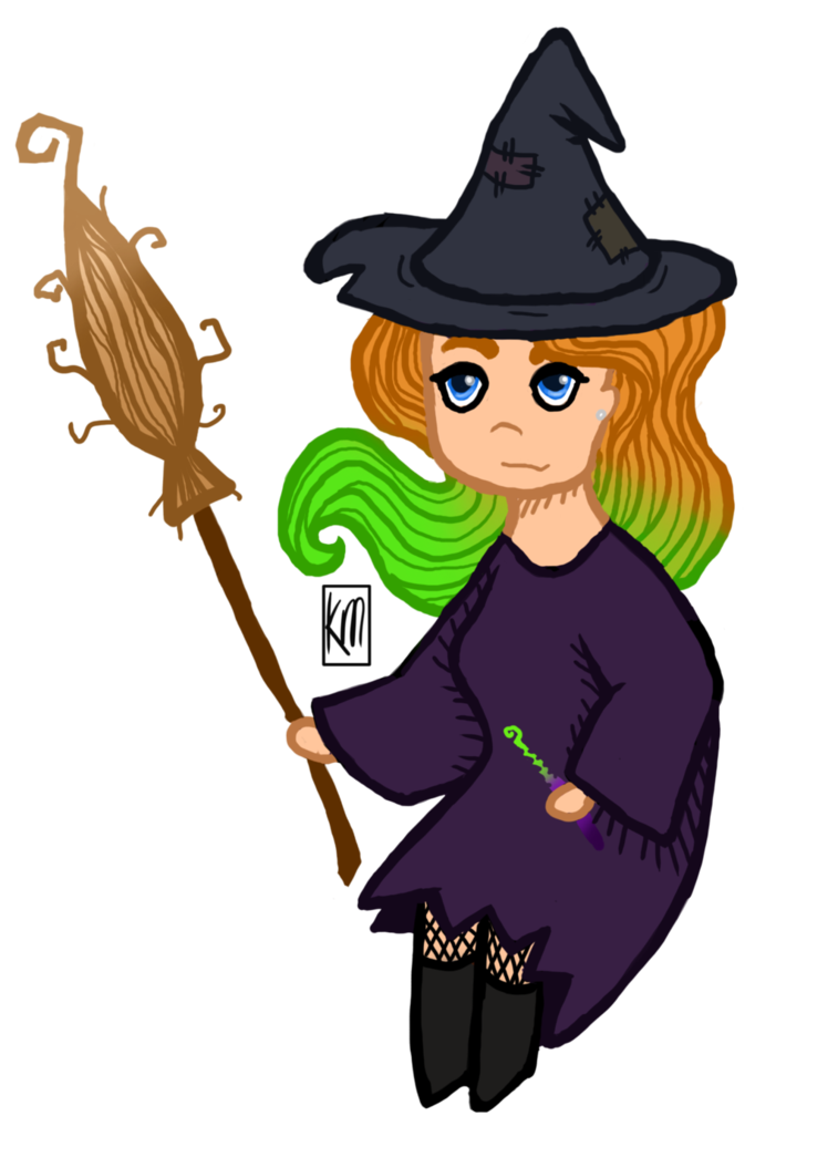 Drawing witch draw something. Chibi by western on