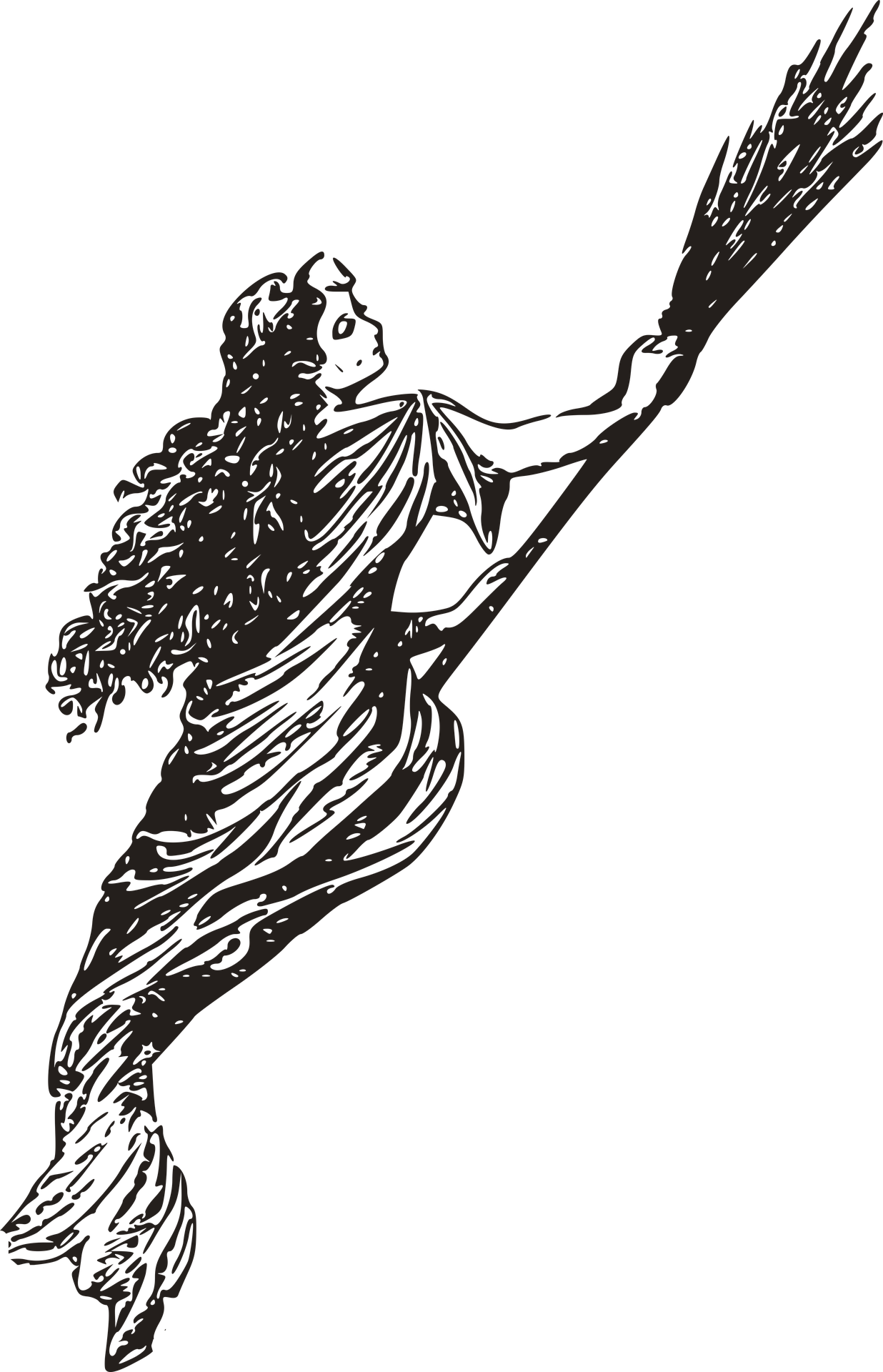 Drawing witch hag. North carolina witches trials