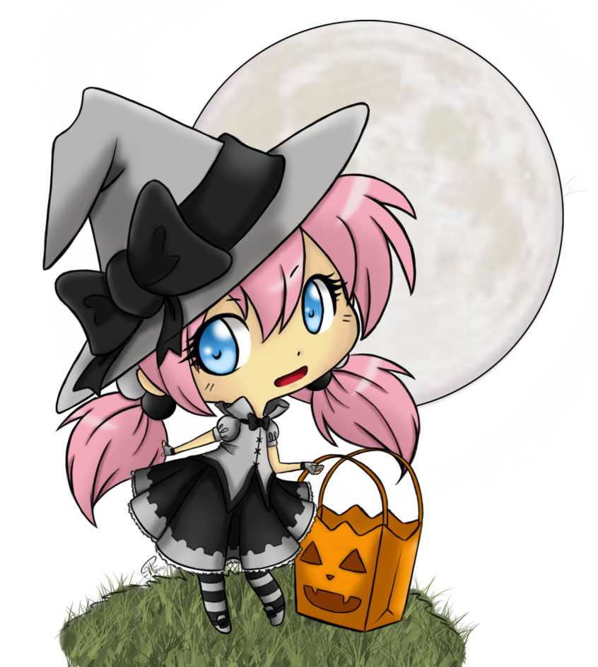 Drawing witches kawaii. Little witch by kibi