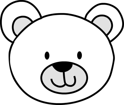 Drawing witch nose. Polar bear encode clipart