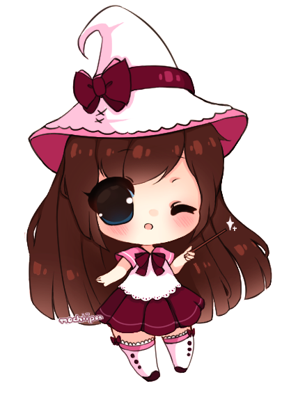 Drawing witch spooky. Lil by mochiipon on