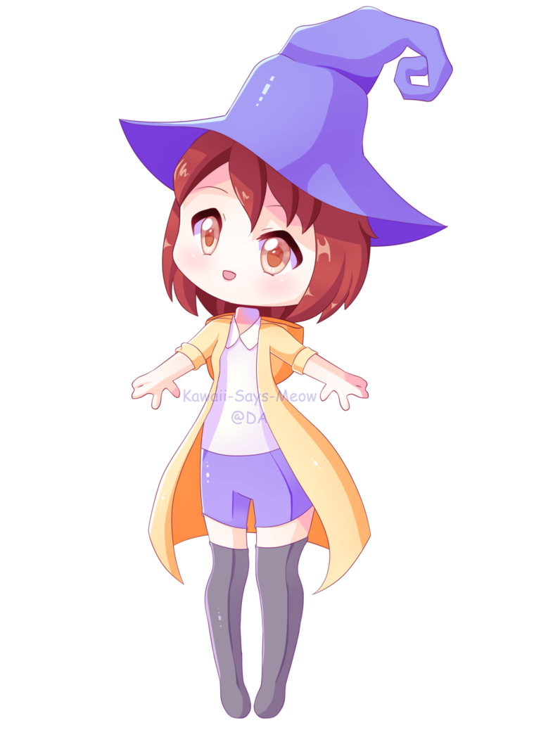 Drawing witches kawaii. Giveaway prize witch by