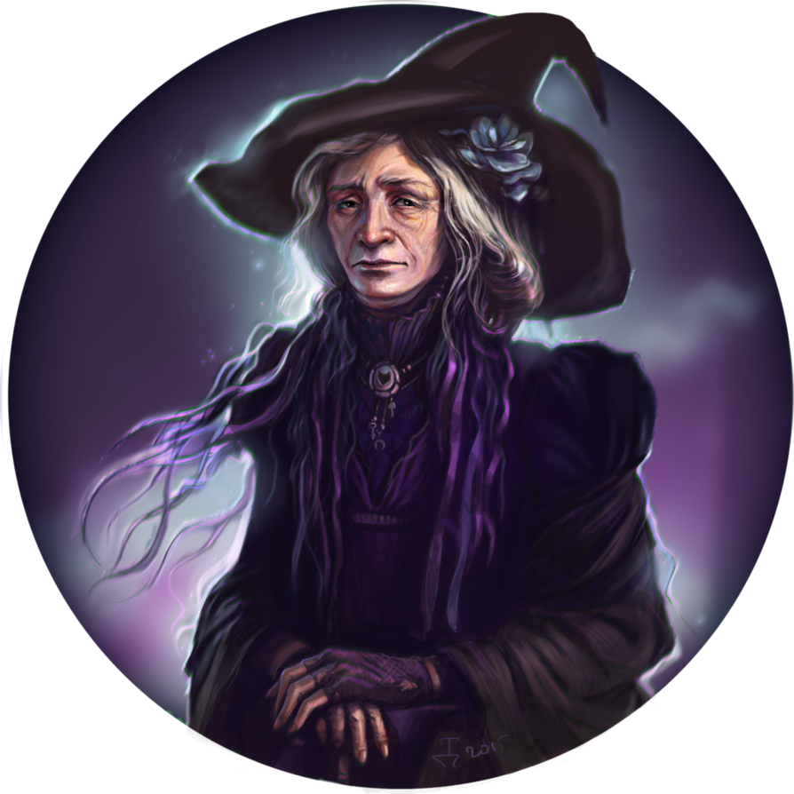 Drawing witches old. Witch by dina tukhvatulina