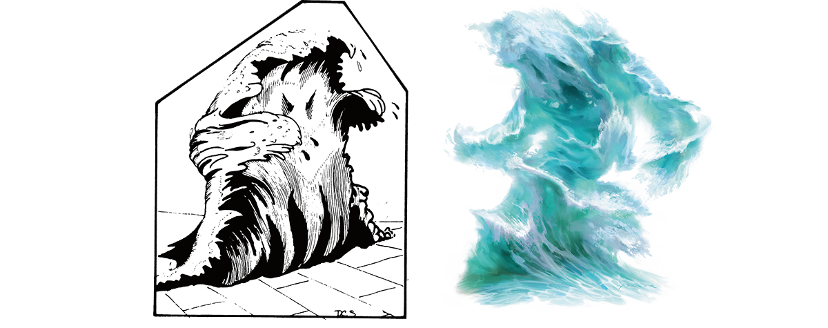 Drawing wizard elemental. Monsters water dungeons dragons