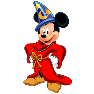 Drawing wizard mickey mouse. The sorcerer halloween clipart