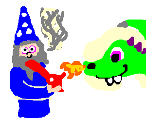 drawing wizards smoking