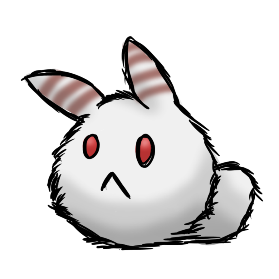 Drawing wizards bunny. Snow poof by an