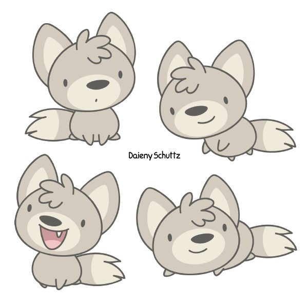 Drawing wolfs baby. Wolf by daieny on