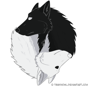 Wolves transparent black and white. Wolf png images yinyangwolvesbytsukihowldnc