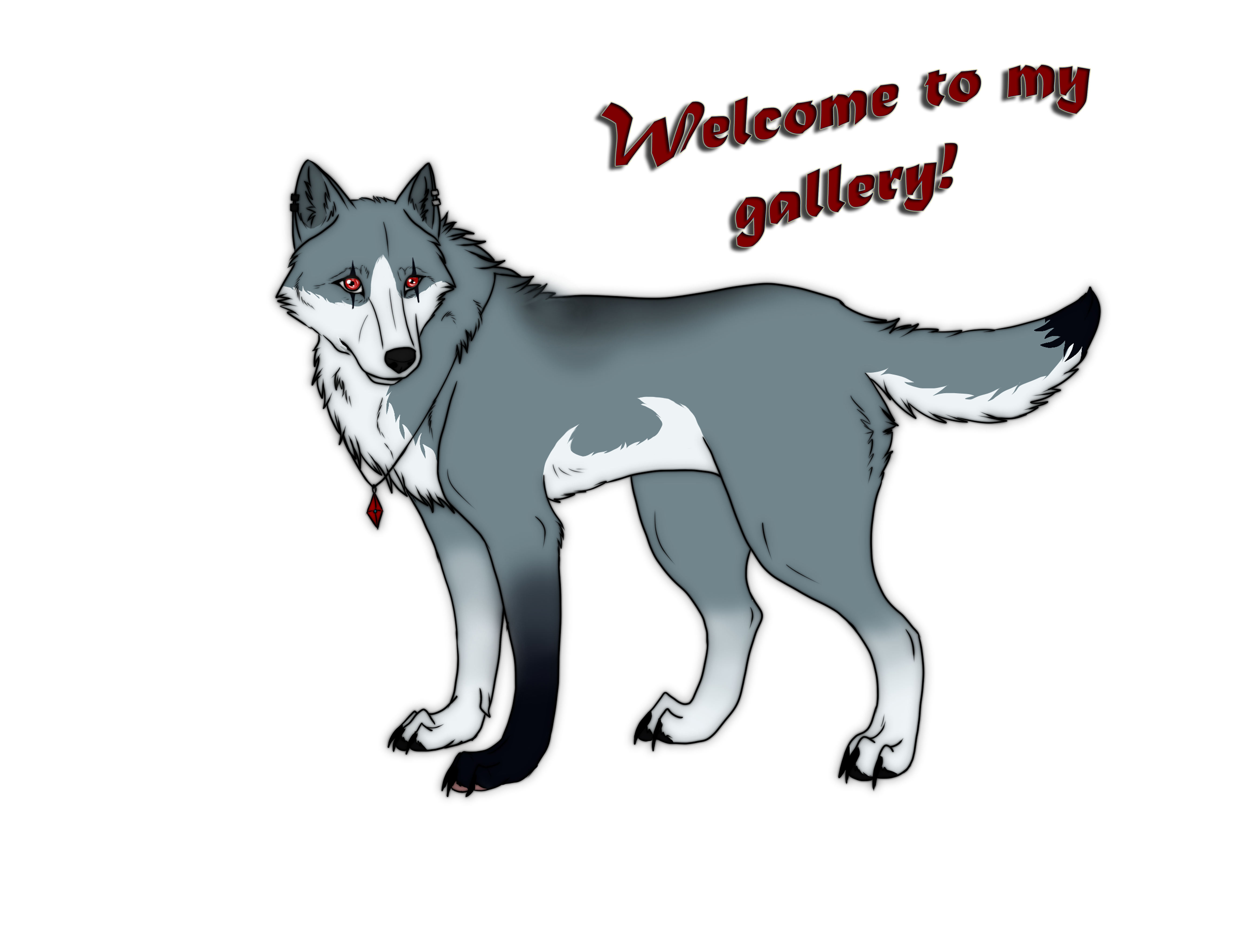 Drawing wolfs profile. Esphir s picture drawings
