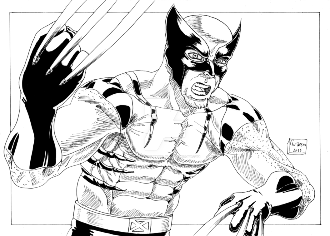 Drawing marvel ronin. Wolverine claws of insanity