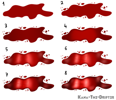 Drawing wounds sai. Tutorial texture blood scars