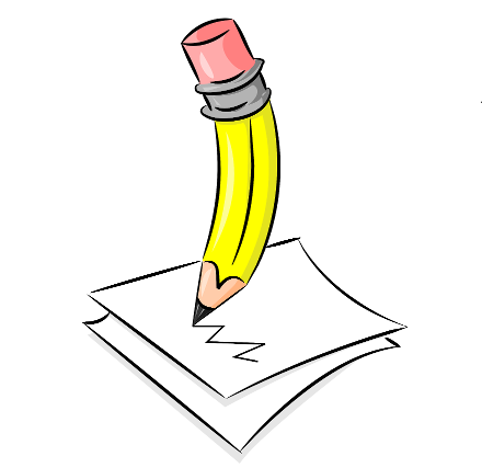 Drawing writing clipart. Pencil black and