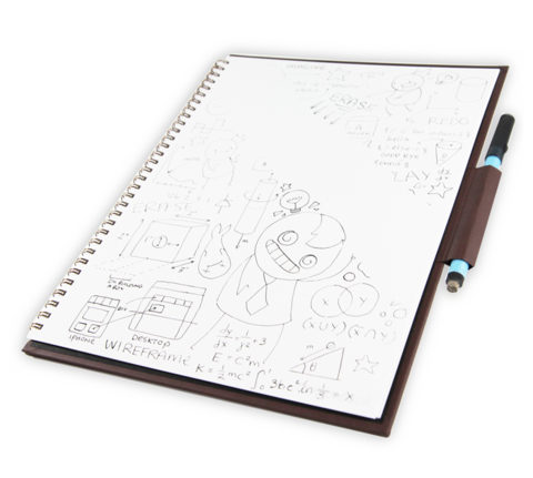 Wipebook pro . V drawing notebook picture royalty free stock