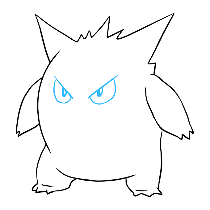 Haunter drawing mega gengar. How to draw from