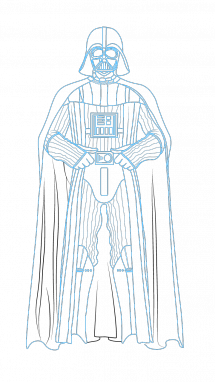 Star wars darth at. Vader drawing step by graphic library