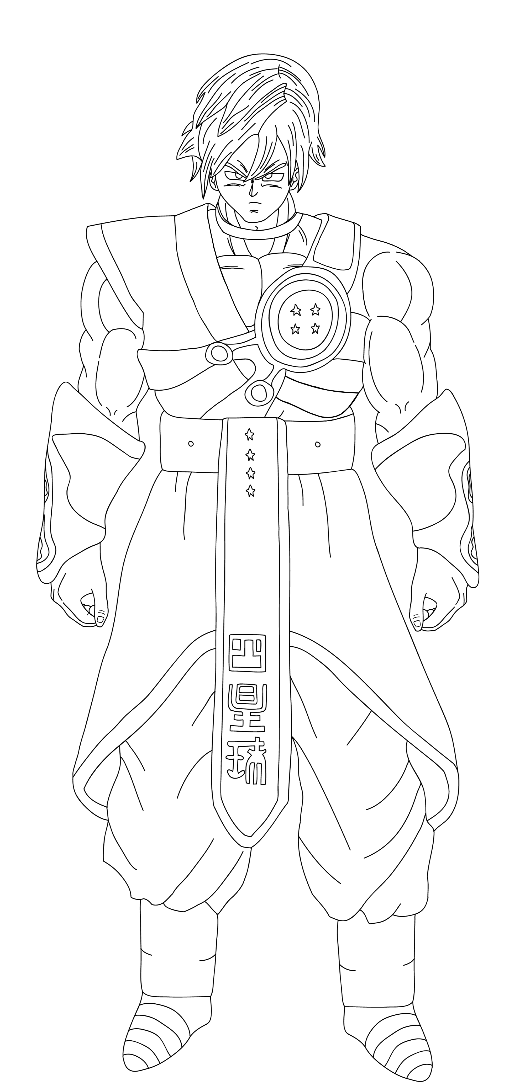 Drawing dbz full body. Chyadosensei xenoverse lineart by