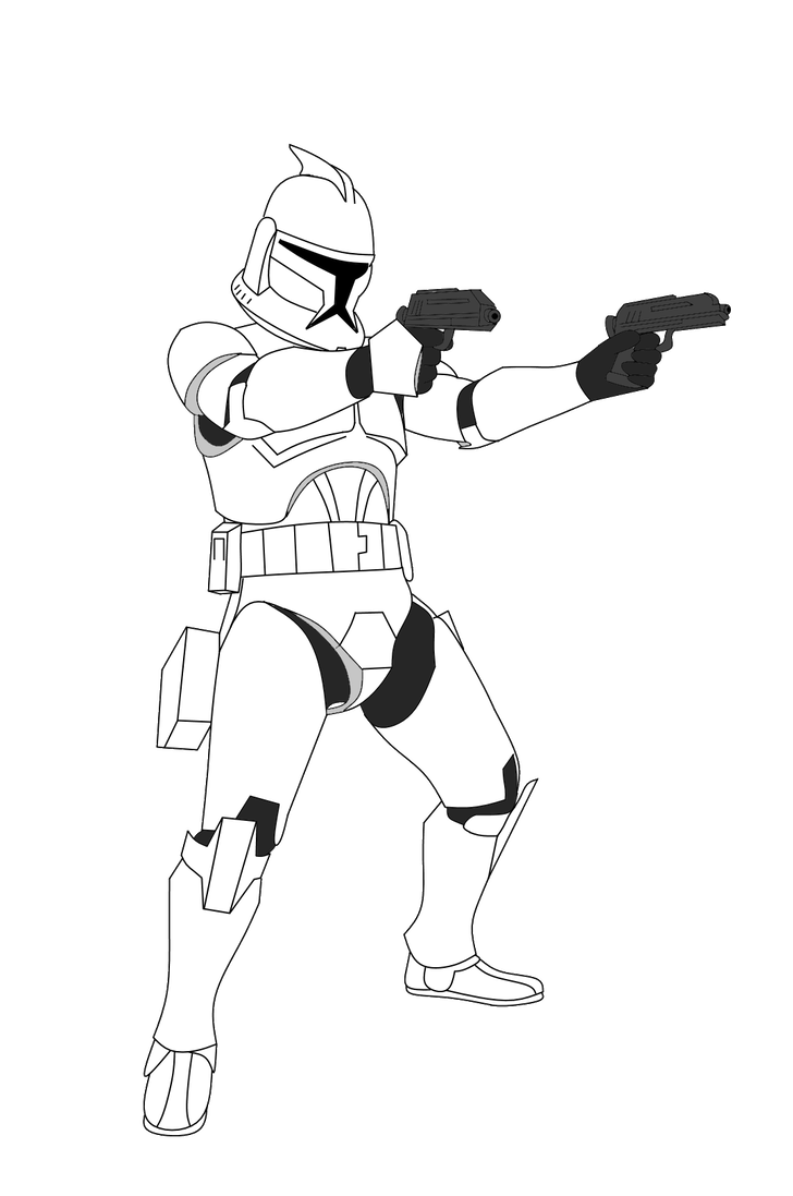 Shooting drawing clone trooper. Science fiction pinterest wars
