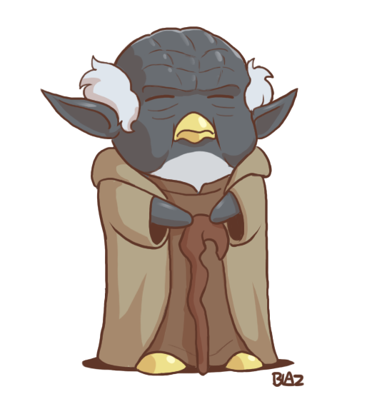 Drawing yoda traceable. Penguin by blazbaros on