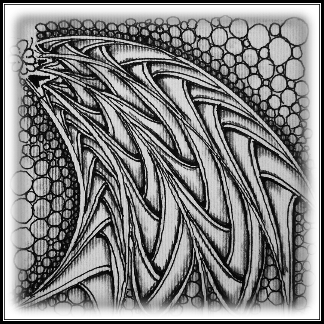 Intricate drawing zentangle. Things often speak to