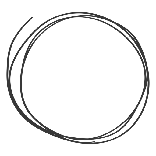 Scribble circle png. Hand drawn icon transparent