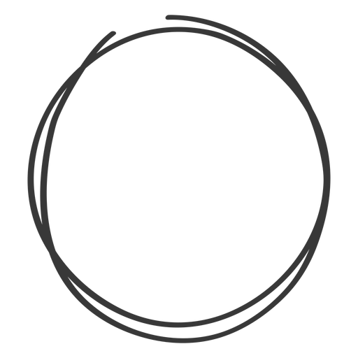 Scribble circle png. Hand drawn transparent svg