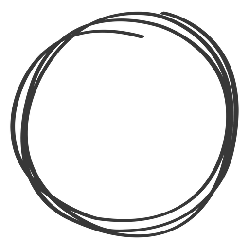 Scribble circle png. Hand drawn element transparent