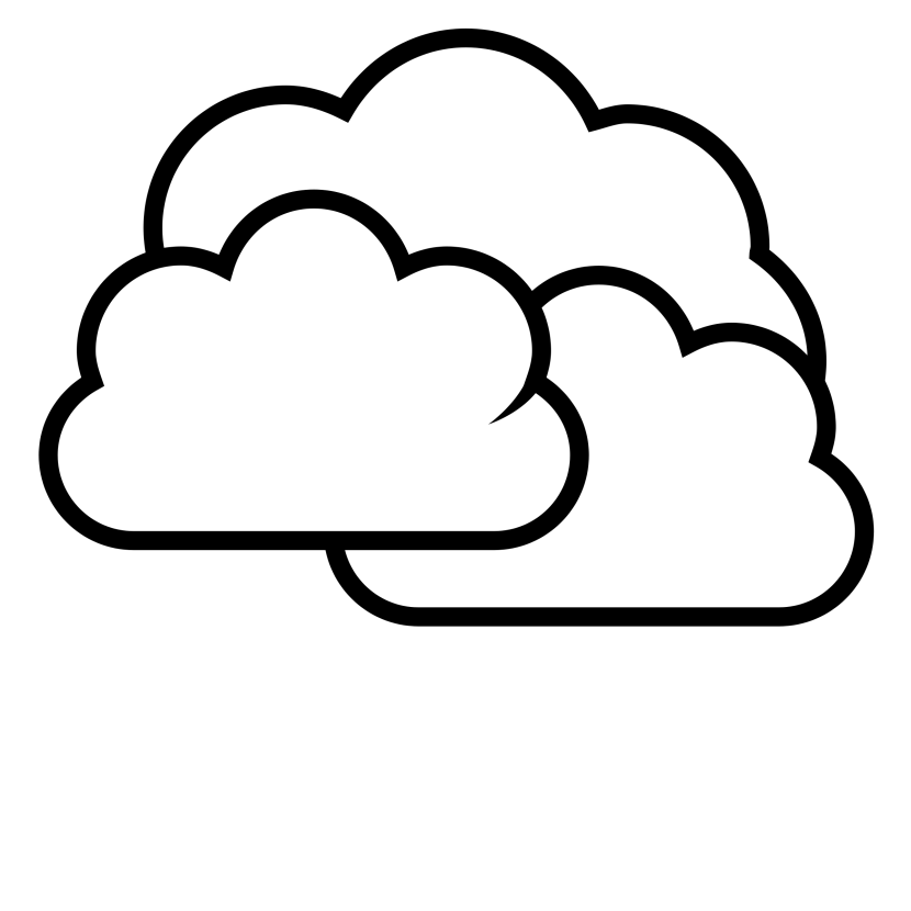 Drawn clouds png. Cloud line drawing at