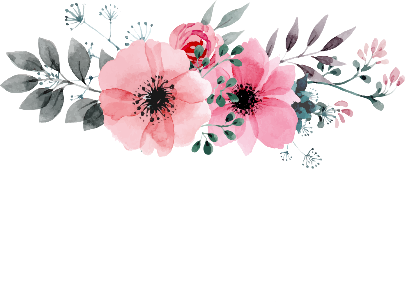 Watercolor painting flower drawing. Drawn flowers png clipart royalty free library