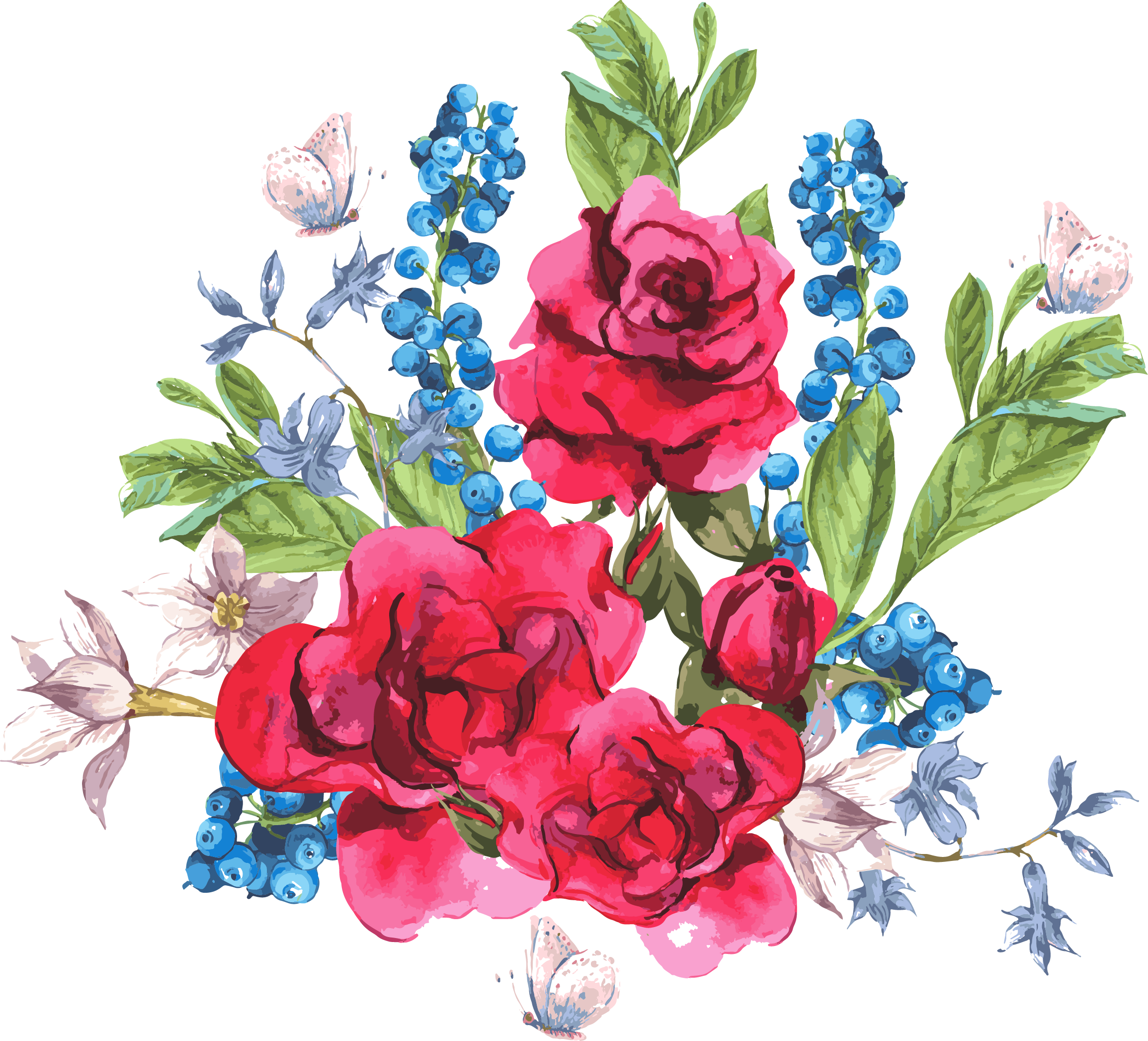 Drawn flowers png. My desing hand draw