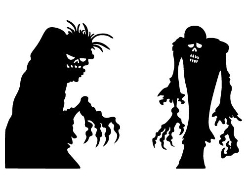 Dreaded. Zombie silhouette vector download