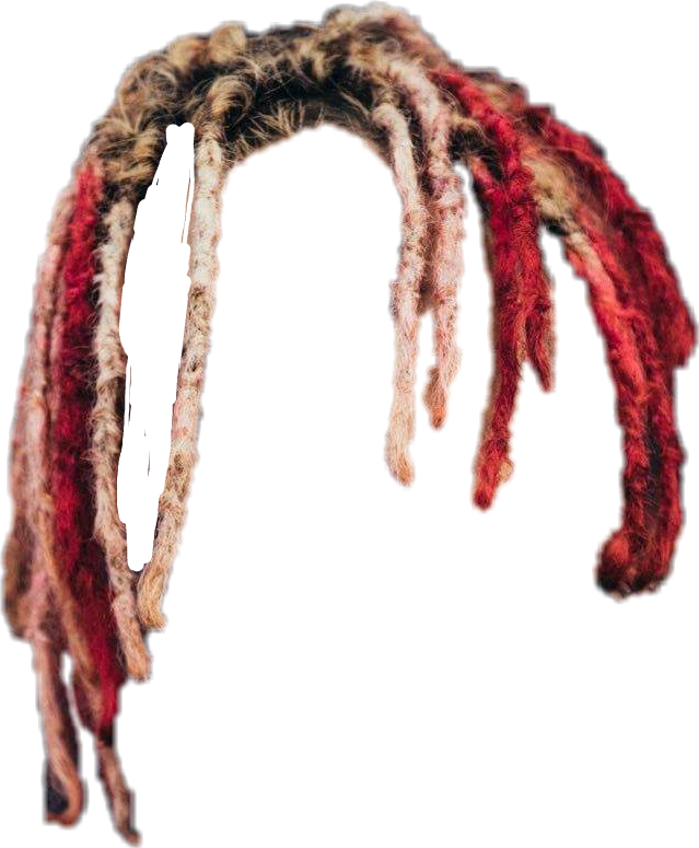 Vector dreads png. Lil pump hair clipart