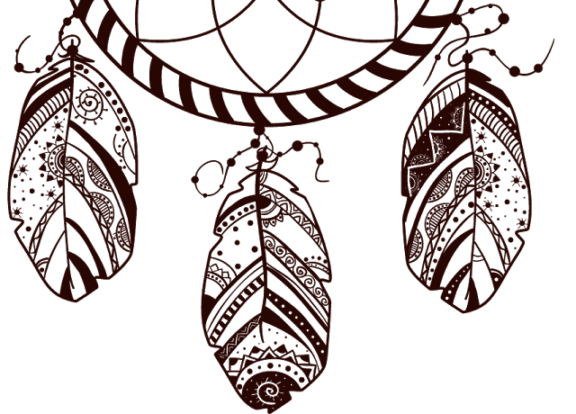 Dream catcher vector png. Dreamcatcher art illustration things