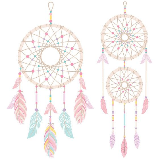 Dreamcatcher clipart. Fresh vectors by amandailkov