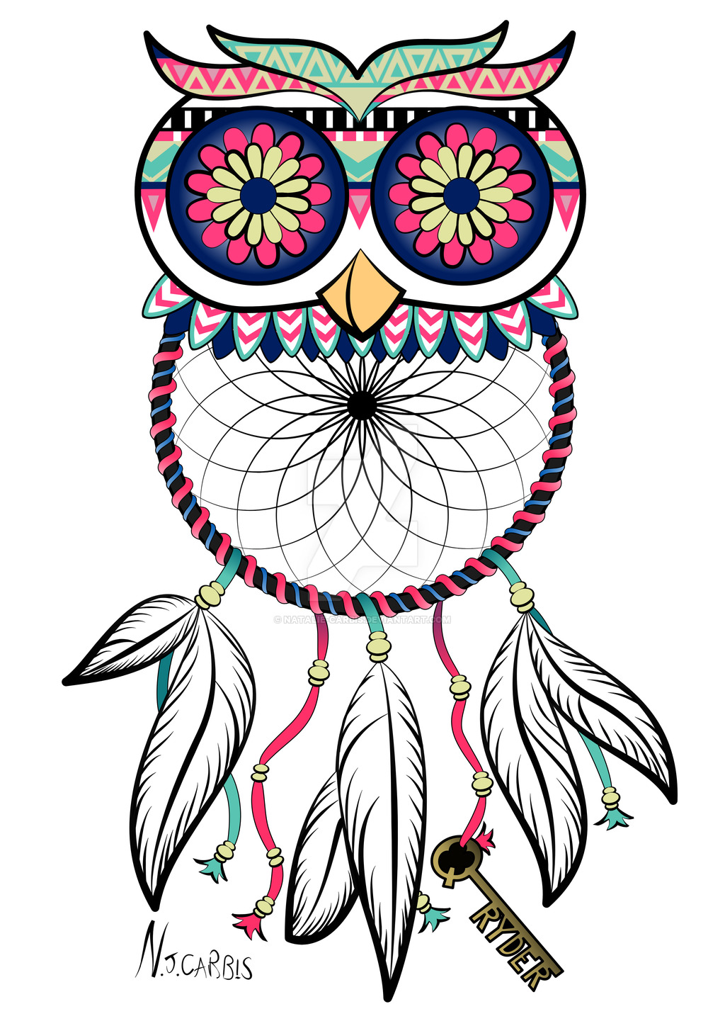 Dreamcatcher clipart jpeg. Owl dream catcher drawing