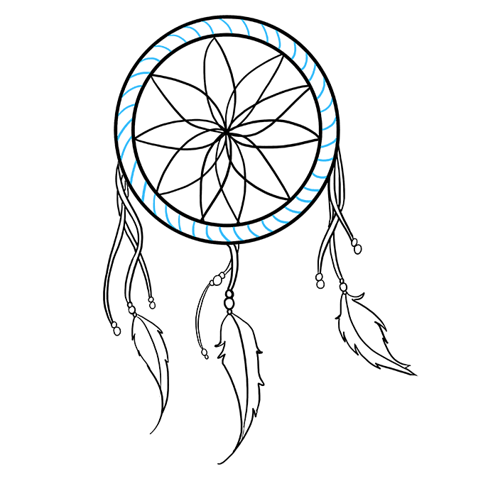 Dreamcatcher clipart illustration. How to draw a