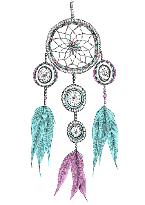 Dreamcatcher png. Dream catcher colours transparent