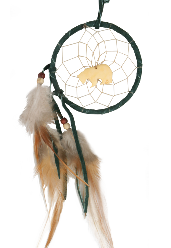 Dreamcatcher transparent eagle feather. Totem dream catcher