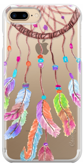 Dreamcatcher transparent pastel. Hand painted bohemian watercolor