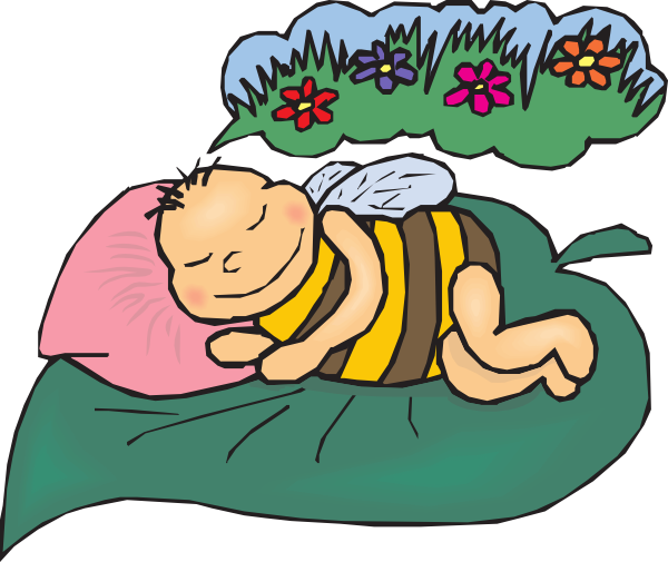 Dreaming clipart. Bee clip art at