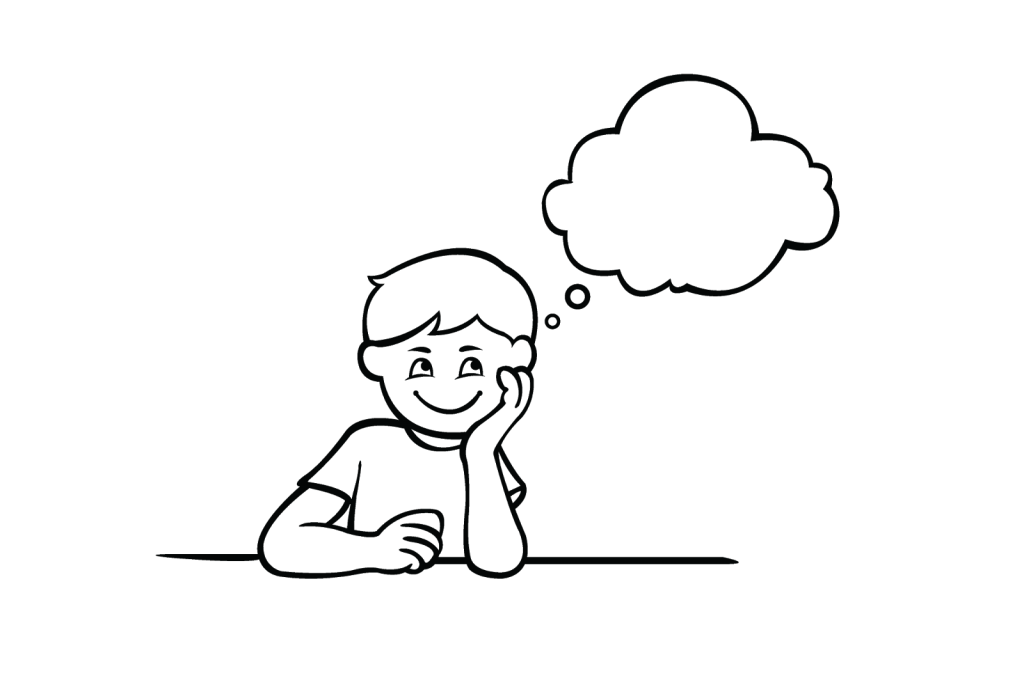 dreaming clipart outline