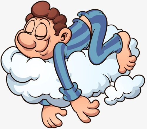 Dreaming clipart thank you. Dream cartoon male clouds