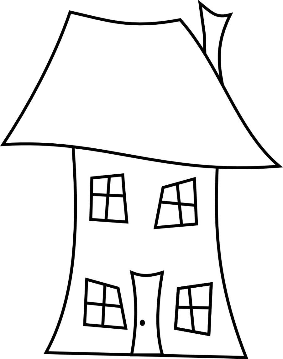 Cottage vector house simple. Line drawing clipart best
