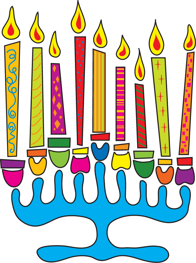 Kwanzaa clipart feast. Simple menorah for hanukkah