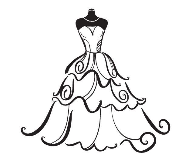 Hanger clipart formal dress. Wedding free best siluete