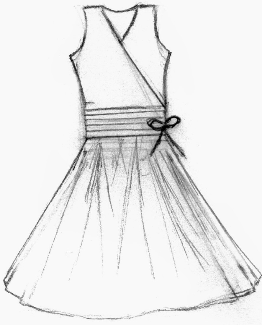 Dress clipart easy. Simple drawing at getdrawings