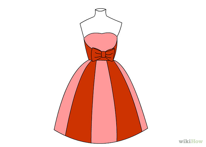 Dress clipart easy. Drawing at getdrawings com