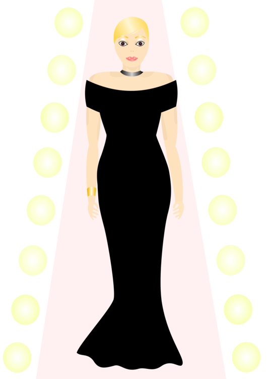 Fashion clipart dress. Clothing little black gown